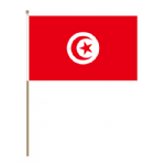Tunisia Country Hand Flag - Large